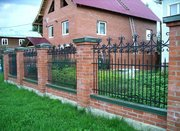 Купить кованый забор,  ограждение из декоративной ковки,  сварной забор