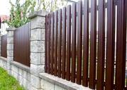 Забор из металлического штакетника,  штакетное ограждение купить Киев
