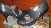Туфли женские кожаные черные