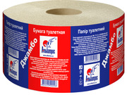 Бумага туалетная макулатурная «Джамбо» на гильзе d 60
