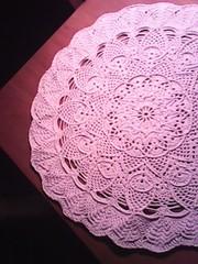 Нежно-розовая салфетка
