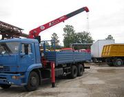 Аренда грузовых автомобилей с манипулятором Киев.