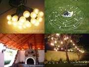 Ретро-гирлянды из ламп накалив. для праздников и событий в аренду