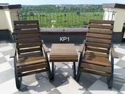 лофт кресло и лофт столик для террасы